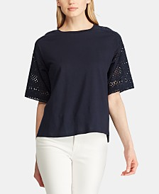 Lauren Ralph Lauren Drop-Shoulder Top