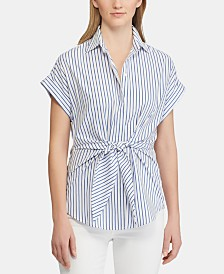 Lauren Ralph Lauren Striped Cotton Top