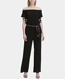 Calvin Klein Braid-Belt Jumpsuit