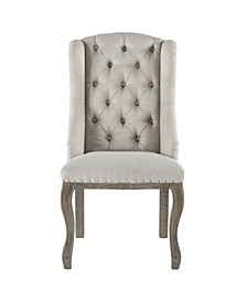 """Portia Tufted Linen Dining Chair with Deconstructed Back - 25"""" x 22.5"""" x 42"""""""