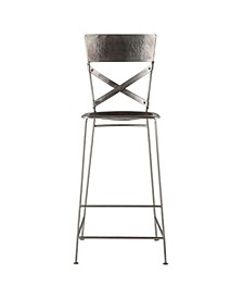Artezia Reclaimed Antique Nickel Bar Chairs, Set of 2