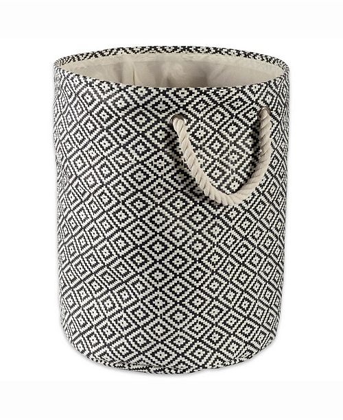Design Import Paper Bin Geo Diamond, Round