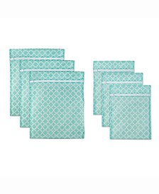 Lattice Set A Mesh Laundry Bag, Set of 6