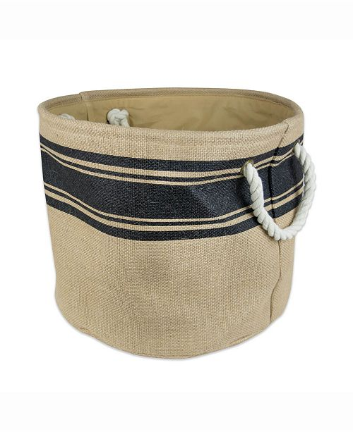 Design Import Burlap Bin Border, Round