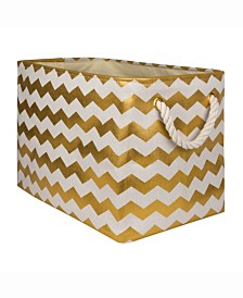 Design Import Storage Bin Chevron, Rectangle