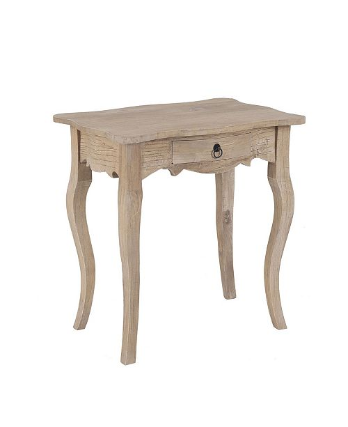 East At Main Benton Rubberwood Accent Table
