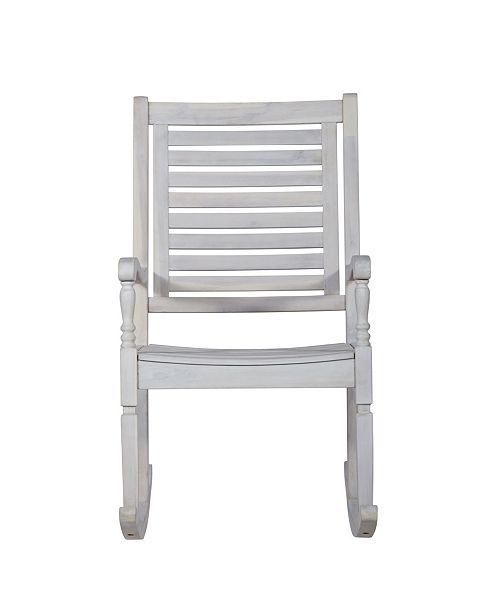 Walker Edison Patio Wood Rocking Chair