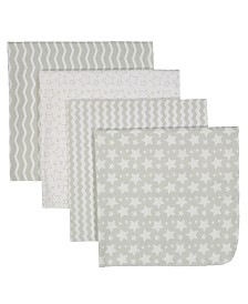 Baby Receiving Blankets, Set of 4