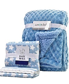 5 Piece Baby Blanket Gift Set