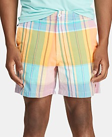 "Polo Ralph Lauren Men's Classic Fit Polo Prepster 6"" Plaid Shorts"