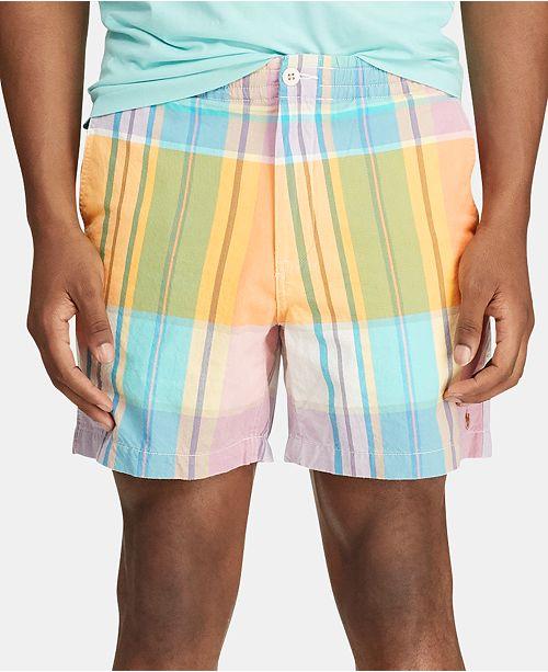 6145dde3 Men's Classic Fit Polo Prepster 6 Plaid Shorts