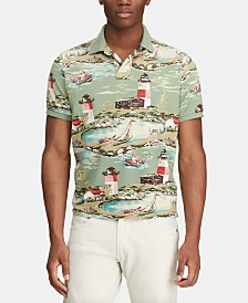 Polo Ralph Lauren Men's Custom Slim Fit Lighthouse Motif Polo