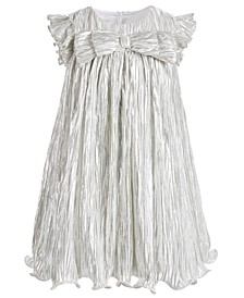 Little Girls Metallic Boudre Dress