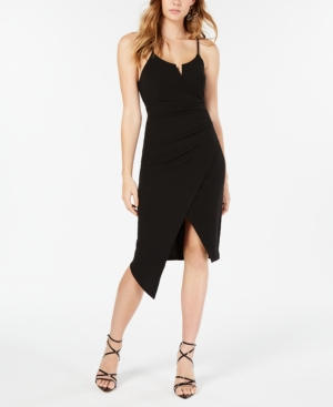 Almost Famous Juniors' Bodycon Dress With Contrast Piping In Black