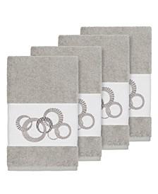 Turkish Cotton Annabelle 4-Pc. Embellished Hand Towel Set