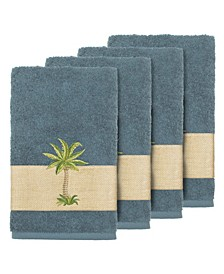 Turkish Cotton Colton 4-Pc. Embellished Hand Towel Set