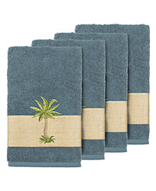 Linum Home Turkish Cotton Colton 4-Pc. Embellished Hand Towel Set