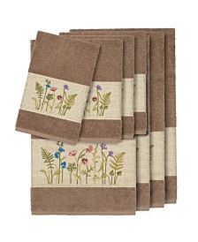 Linum Home Turkish Cotton Serenity 8-Pc. Embellished Towel Set