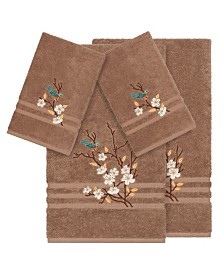 Linum Home Turkish Cotton Springtime 4-Pc. Embellished Towel Set
