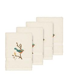 Turkish Cotton Springtime 4-Pc. Embellished Washcloth Set