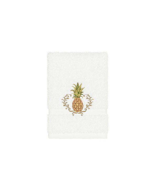 Linum Home Turkish Cotton Welcome Embellished Washcloth