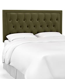Skylands Collection Layla Cal King Tufted Headboard, Quick Ship, Created for Macy's