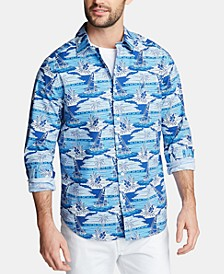 Men's Classic Fit Sailboat Woven Button-Down Shirt, Created for Macy's