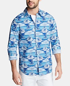 Nautica Men's Classic Fit Sailboat Woven Button-Down Shirt, Created for Macy's
