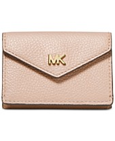 03733428bb03 MICHAEL Michael Kors Pebble Leather Trifold Flap Wallet