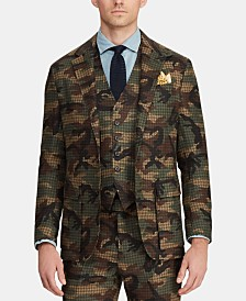 Polo Ralph Lauren Men's Morgan Camo Tweed Suit Jacket