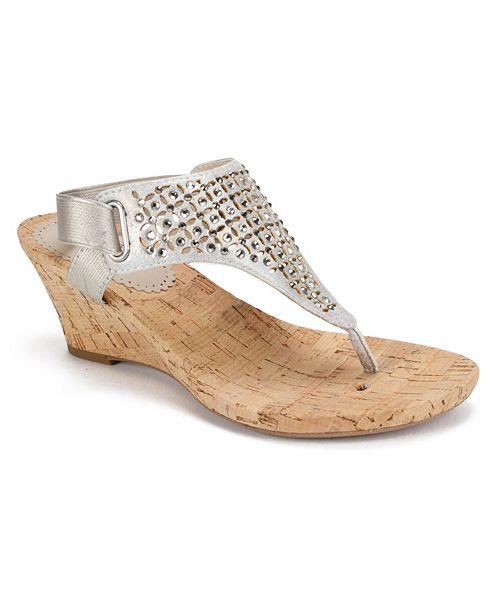 White Mountain Arnette Wedge Sandals