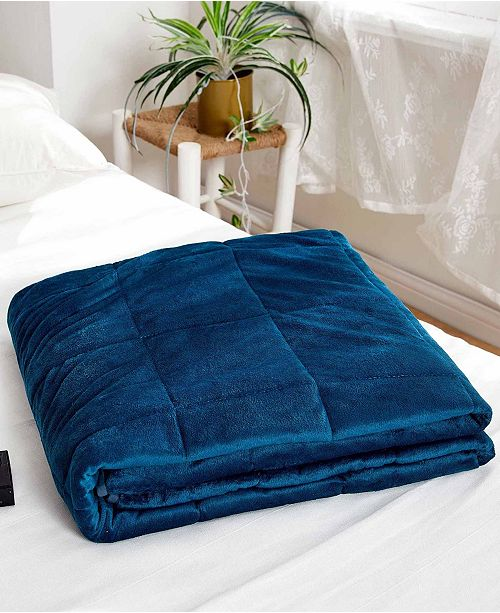 Dream Theory Dreamtheory 20 lbs Faux Mink Weighted Blanket