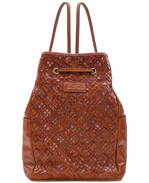 Patricia Nash Tierce Braided Leather Backpack