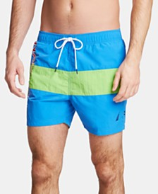 "Nautica Men's Logo Quick-Dry 6"" Swim Trunks"