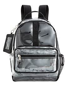 Steve Madden Amelia Clear Backpack With ID Case