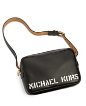 03847230909189 Michael Kors Leather Logo-Print Belt Bag, Created for Macy's