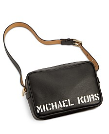 Michael Kors Leather Logo-Print Belt Bag, Created for Macy's