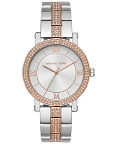 d04cc365bb28f Michael Kors Women's Norie Two-Tone Stainless Steel Bracelet Watch 38mm