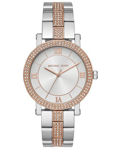 Michael Kors Women's Norie Two-Tone Stainless Steel Bracelet Watch 38mm