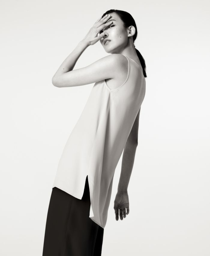 Eileen Fisher Silk High-Low Tunic, Regular & Petite & Reviews - Tops - Women - Macy's