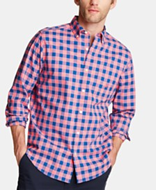 Nautica Men's Blue Sail Classic Fit Plaid Button-Down Shirt, Created for Macy's