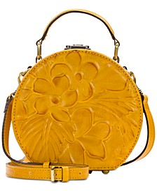Floral Debossed Leather Allier Crossbody