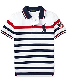 Polo Ralph Lauren Little Boys Striped Cotton Mesh Polo Shirt