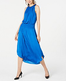 Petite Smocked-Waist Midi Dress, Created for Macy's