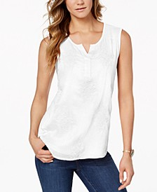 Petite Embroidered Top, Created for Macy's
