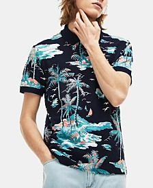 Lacoste Men's Tropical-Print Piqué Polo