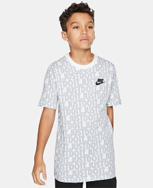 Nike Big Boys Just Do It Printed Cotton T-Shirt