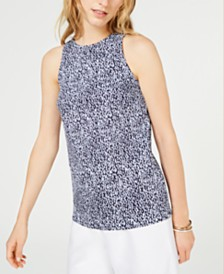 MICHAEL Michael Kors Printed Sleeveless Top, Regular & Petite