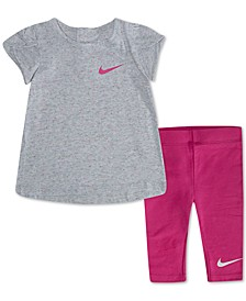 Baby Girls 2-Pc. Sportswear Swoosh T-Shirt & Leggings Set