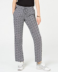Printed Track Pants, Regular & Petite